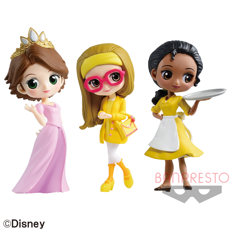 Disney Character Q posket petit -Rapunzel・Honey Lemon・Tiana-